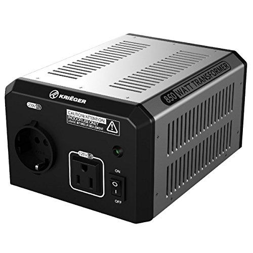 Krieger 850 Watt Voltage Transformer, 110/120V to 220/240V Step Up Step Down Voltage Converter, MET Approved Under UL, CSA