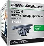 Rameder Komplettsatz, Dachträger SquareBar für Suzuki JIMNY Geländewagen geschlossen (115961-03972-108)