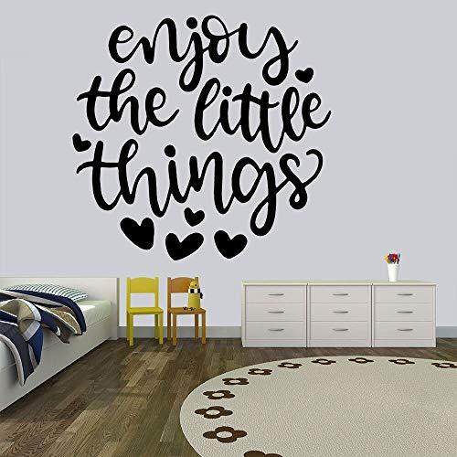 sxh28185171 Disfrute de Cosas pequeñas, vinilos Decorativos, decoración para el hogar, Sala de Estar, decoración nórdica para el hogar para niños30CM X 30CM