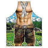 Grillschürze für Männer - Sexy Alpenmodel Boy - Grill Koch Küchenschürze Schürze Männer Geschenke Set geil Bedruckt mit GRATIS Griller Urkunde
