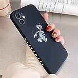 【KAIFJ】 トムとジェリー iphone11pro ケース 5.8インチ iphone11 pro 用カバー 対応全機種 アイフォン11Pro プロ シリコンケース レンズ保護 高耐衝撃 Qi ワイヤレス充電対応 衝撃吸収 指紋防止 ケース iPhone11Pro TOM 黒