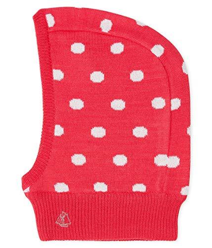 Petit Bateau Cagoule_5147301 Sombrero, Multicolor (Signal/Marshmallow 01), 43/45 (Talla del Fabricante: 3/6 Meses) para Bebés