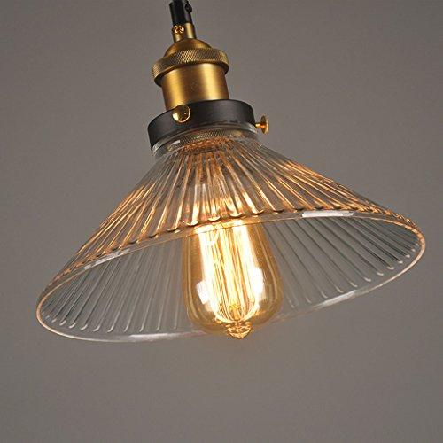 Pendelleuchte Moderner Glasschirm-Leuchter, industrieller moderner Regenschirm-Decken-Leuchter-einfaches Glasschmieden/Büro Korridor-Schlafzimmer-Beleuchtung [Energieklasse A ++]