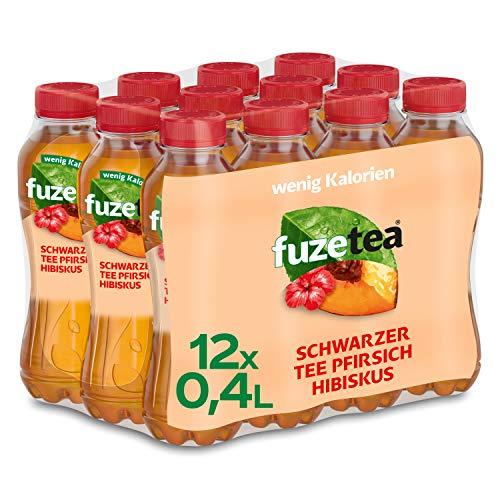 Fuze Tea Pfirsich Hibiskus, EINWEG Flasche (12 x 400 ml)