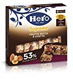 Hero Barrette ai Cereali Supreme Frutta Secca e Uvetta- 12 Confezioni da  4 X 24 g...