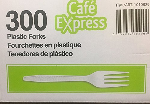 Cafe Express Heavyweight Strong Plastic Forks 300 Pack