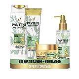 Pantene Pro-V Miracles Forti&Lunghi, Set con Shampoo Anticaduta 225 ml, Balsamo Capelli 16...