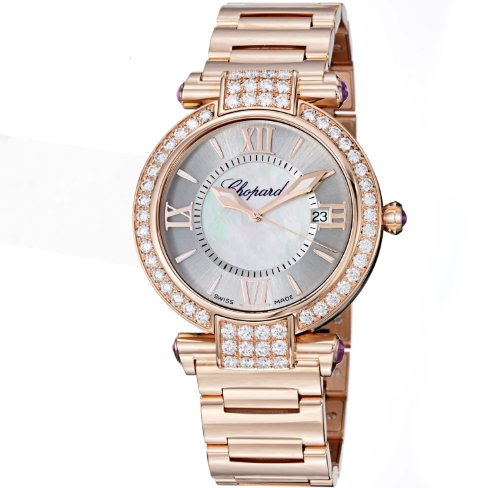 Chopard Imperiale Ladies Rose Gold Diamond Watch 384221-5004