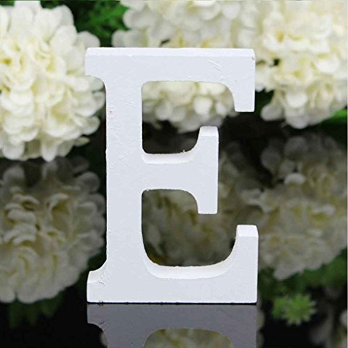 Mengonee 26 Large Wooden Letters Alphabet Wall Hanging Wedding Party Home Shop Decoration