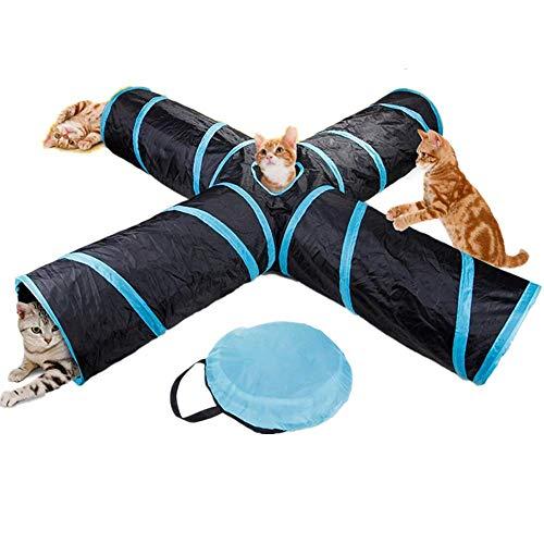 HWZ Cat Ring Papier Vier Links Tunnel Grappige Boor Emmer Speelgoed voor Katten Opvouwbare Kat Kanaal Vierweg Kat Speelgoed Kat Kanaal