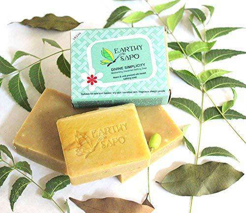 Earthy Sapo Divine Simplicity Moisturizing Unscented bathing soap -100g (3.52 OZ)