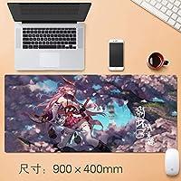 日本のアニメマウスパッドテーブルマットHonkaiインパクト第三防水グラフィティマウスマット特大ノンスリッププロフェッショナルラバーゲーミングマウスマットホームオフィスオタクアニメファンのギフト90 * 40センチメートル (サイズ: 3mm)