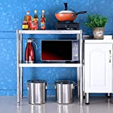 ZWJLIZI 201 Los estantes de Acero Inoxidable, 2-Nivel de la Cocina/baño/Depósito de Almacenamiento en Rack Y Acabado, H70CM (Size : 100X35X70CM)