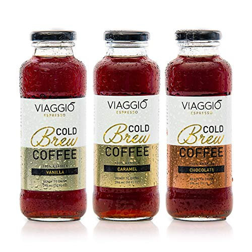Viaggio Espresso Cold Brew Coffee Flavored Selection (6 bottles of 296 ml.)