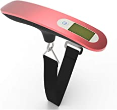 LUKEEXIN Portable Digital Suitcase Hanging Scale with Tare Function Weighing Scale with Backlit Display Suitable for Travel/Outdoor/Home Use 110 Lb/50 KG Capacity (Color : Pink)