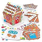Baker Ross Kits de casa de pan de jengibre de espuma: suministros creativos de arte y manualidades navideños para que los niños hagan y decoren (paquete de 2)