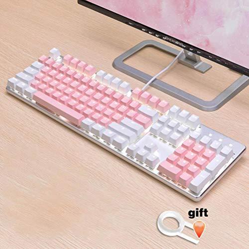 Cereza / SKY 104 KeyCaps límites temáticos claves principales impresos para las teclas del teclado mecánico para teclado para juegos mecánicos MX cabujón,Rosa blanca