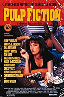 Pyramid America Pulp Fiction Uma Thurman Smoking Movie Poster 24x36 inch
