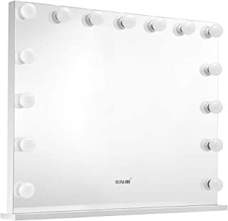 Maxkon Hollywood Makeup Vanity Mirror with 15 LED Lights Bulbs Dimmer Control