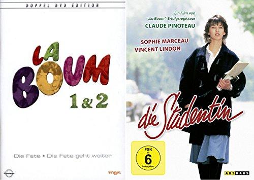 Sophie Marceau Collection - LA BOUM -DIE FETE 1 & 2 Eltern unerwünscht + DIE STUDENTIN 3 DVD Edition