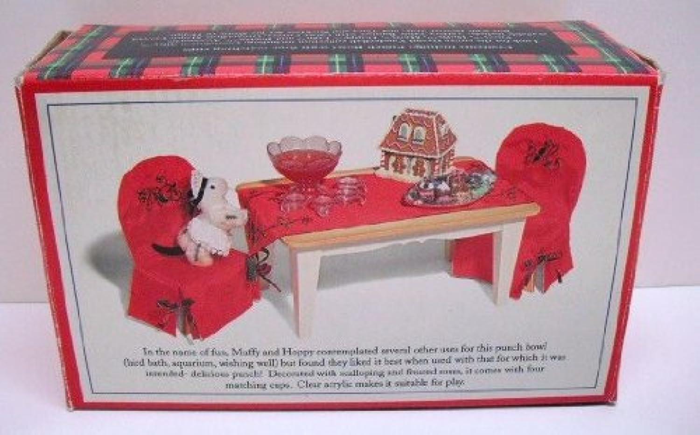 Grand vanderball Punch Bowl and Cups (Muffy vanderbear) by North American Bear