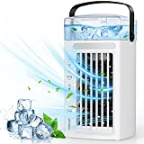 Portable Air Conditioner Fan, Personal Air Cooler with 3 Speeds, Mini Evaporative Desktop Air Humidifier Misting Cooler Fan for Room Home Office