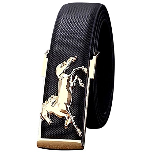 FRAUIT heren/dames vrije tijd business riem lederen band riem goud Horse metalen gespen riem 110cm Wilder stijl mannen breed lederen riem koffie zwart