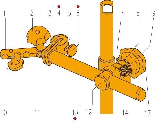 Ersatzteil zum BOSCH-Stativ Kugelscheibe Teil-Nr.11 6mm Bohrung