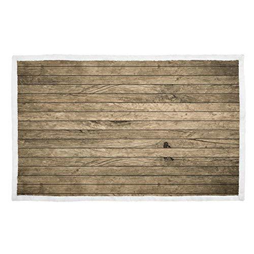 FULUHUAPIN Coperta per animali domestici e gatti, in stile vintage, in legno, morbida e calda, con stampa soffice, 76,2 x 101,6 cm