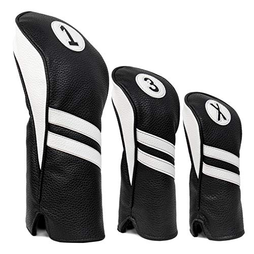 ProActive Sports Vintage Golf Club Head Covers for Driver, Fairway Woods, and Hybrids