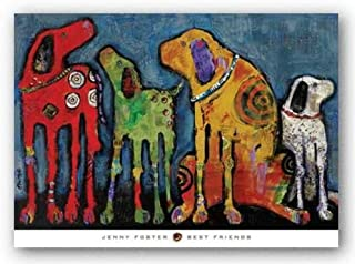 Best Friends by Jenny Foster Art Print Poster, Overall Size: 36x26, Image Size: 36x24
