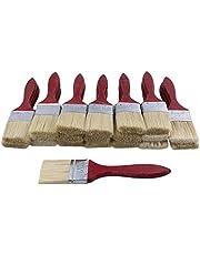 Mxfans - Juego de 20 pinceles para pintar (mango de madera roja, 4,8 cm)