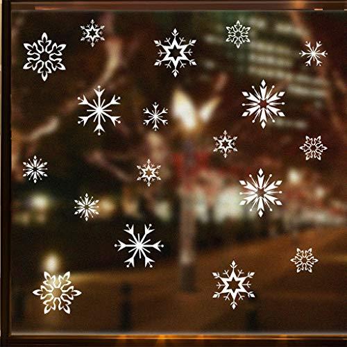 99native 1 PC 20x40cm Weiße Schneeflocke PVC Weihnachten Wandaufkleber Home Decor Stickersüß kinder dekoration Kreativer Wandaufkleber Wohnzimmer Schlafzimmer Aufkleber DIY (Weiße)