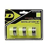 Dunlop Overgrip Revolution NT 3er - Mango de Raqueta de Tenis, Color Amarillo, Talla...