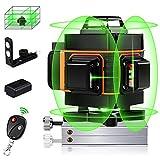4D Laser Level, Elikliv 16 Lines Laser Level 360° Green Beam Light Horizontal