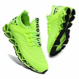 Womens Running Shoes Blade Tennis Walking Fashion Sneakers Breathable Non Slip Gym Sports Work Trainers Fluorescent Green