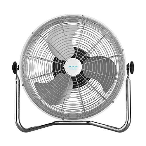 Cecotec EnergySilence 4500 GyroPro. Ventilador Industrial con oscilaci—n autom‡Tica de m‡xima Potencia. 110 W. 3 velocidades. Motor de Cobre. Ajustable. Plata