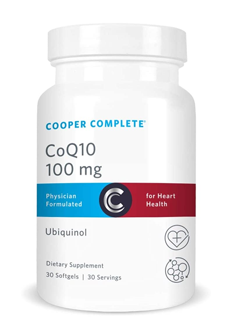 Cooper Complete - CoQ10 100 mg - CoEnzyme10 Ubiquinol Supplement - 30 Day Supply