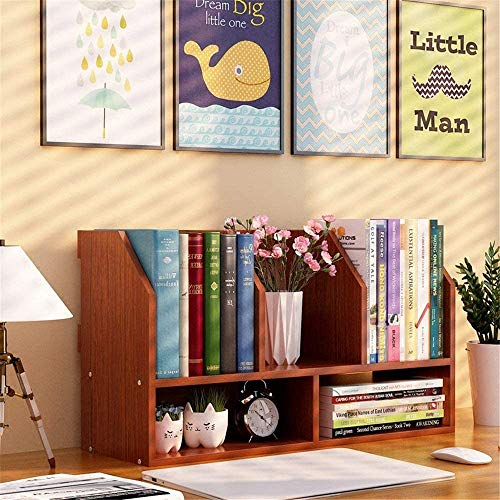 DGHJK Desktop Organizer Bücherregal Büromaterial Schreibtisch-Buch Lagerung Anzeigen-Regal-Rack Für Jeden Dresser Aufsatz- Veranstalter Und Zubehör