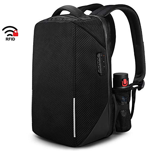 QueenAILSA TSA Lock No Key Business Laptoprugzak, hoogwaardig, 15,6 inch, anti-diefstal Men Travel Bags Male Mochilas