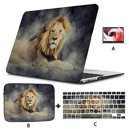 Macbook Pro Case 15 Close Male Lion Smoke On Dark Macbook Air Cover Hard Shell Mac Air 11'/13' Pro 13'/15'/16' With Notebook Sleeve Bag For Macbook 2008-2020 Version