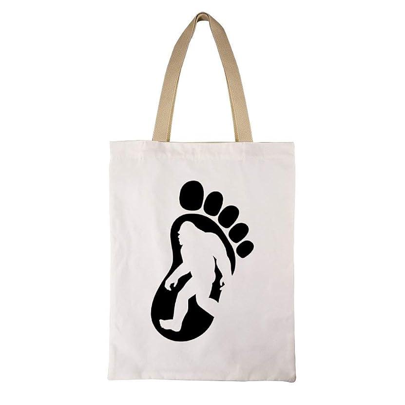 かる印刷する夢中I Believe In Bigfoot レディース キャンバストートバッグ ハンドバッグキャンバスショルダーバッグ通勤通学 大容量 軽量
