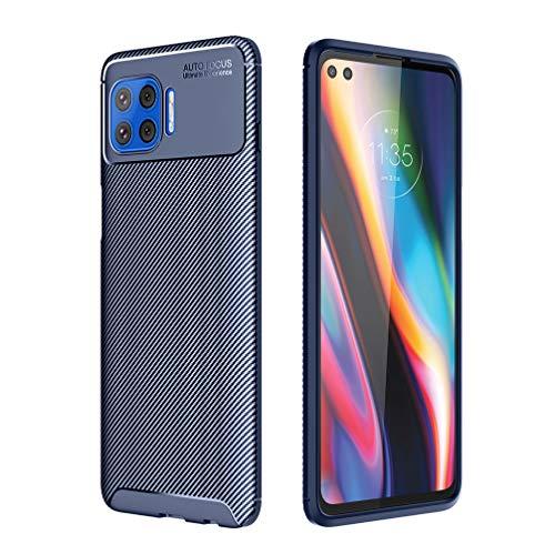 BRAND SET Hülle für Motorola Moto G 5G Plus Tasche Ultra Thin rutschfeste Cover Silikon Schutzhülle Bruchsichere Stoßfest Softshell Backcover Hüllen für Motorola Moto G 5G Plus(Blau)