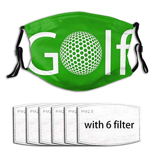 Golf Ball Face Cover with Adjustable Elastic Strap Washable and Reuseable with 6 Filters