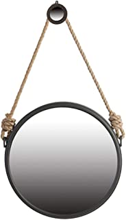 round wall mirror with strap