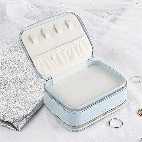 JINTD Joyería de Mujer, Caja de Almacenamiento portátil de Viaje Simple Multifuncional como Regalo (Color : Blue-2)