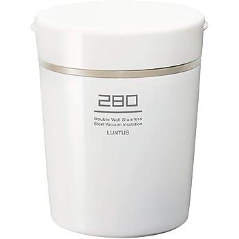 アスベル 保温ランチジャー ホワイト 280ml ランタス ステンレス保温・保冷スープボトル HLB-S280
