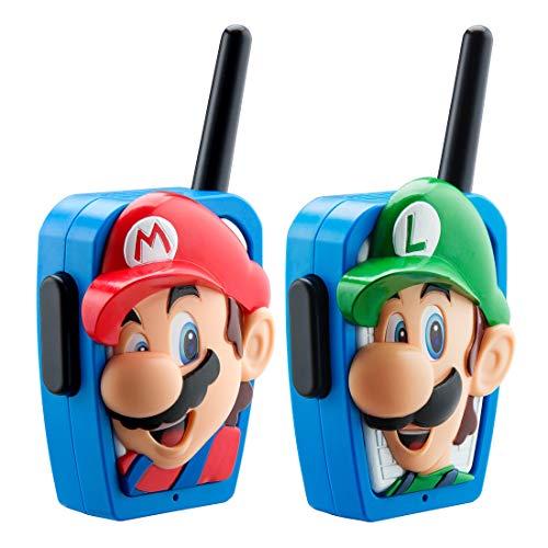 eKids Super Mario Bros Walkie Talkies Kids Toys, Long Range, Two Way Static Free Handheld Radios, Great for Indoor or Outdoor Toddler Kid 3 and Up