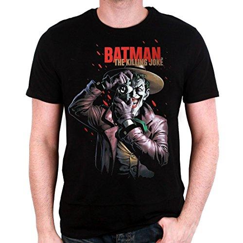DC Comics Batman Premium Killing Joker - Camiseta para hombre, color negro Negro XL