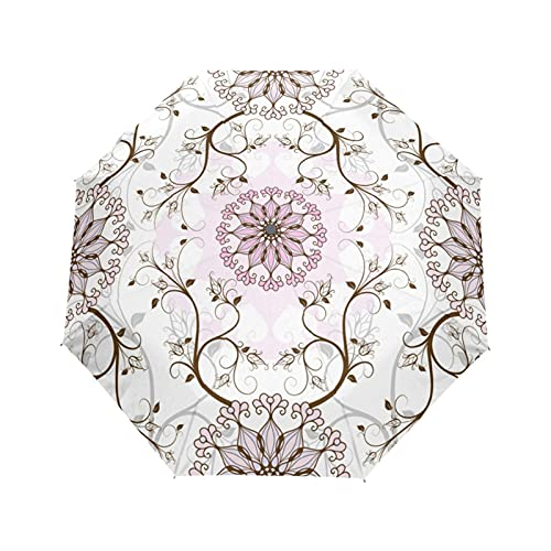 ombrello Moda Automatic Ombrello Flower Flower Ombrelloni / Anti -Uv Umbrellas Rain for uomo Black Coating Sun Parasol Ombrelloni, casa e giardino, ombrelloni economici, casa e giardino di alta qualit